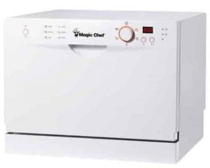 Magic Chef MCSCD6W3 6 Place Setting Countertop Dishwasher