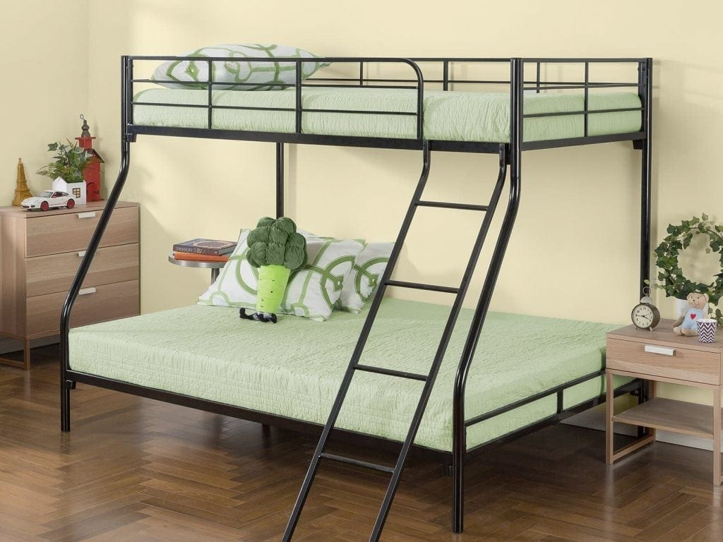 Zinus Easy Assembly Twin over Full Bunk Bed