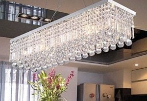 CRYSTOP Clear K9 Crystal Chandelier