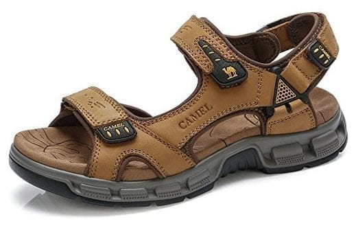 CAMEL Leather Sandals for Men Strap Athletic Shoes