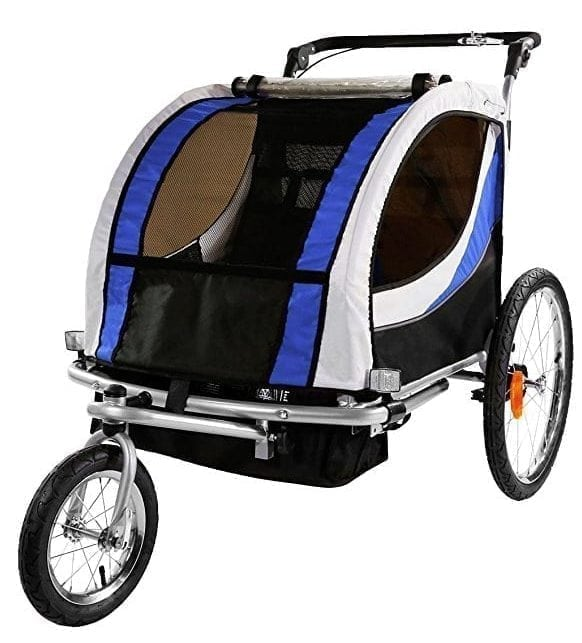Clevr 2-In-1 Collapsible 2-Seater Baby Stroller