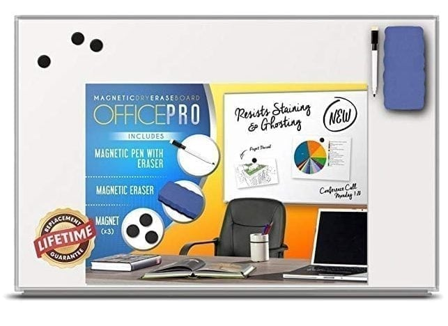 OfficePro Ultra-Slim Magnetic Dry Erase Board