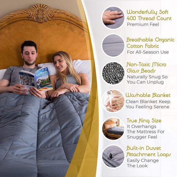 King Size Weighted Blankets for Anxiety, Autism, ADHD
