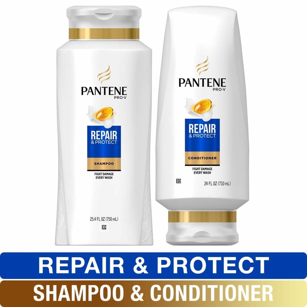 Pantene Damaged Hair Repair Shampoo and Conditioner with Argan Oil